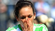 Die deutsche Fußball-Nationalspielerin Nadine Keßler vom VfL Wolfsburg © picture-alliance/dpa-Zentralbild Fotograf: Oliver Mehlis