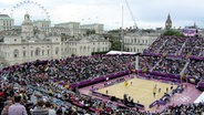 Beachvolleyball-Court in Horse Guards Parade © Goller/Ludwig Fotograf: Goller/Ludwig