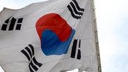 Eine südkoreanische Flagge © picture-alliance Fotograf: Juergen Sorges