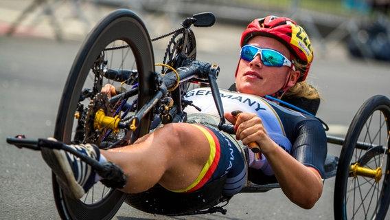 Die deutsche Radsportlerin Christiane Reppe © dpa - Bildfunk Foto: Jens Büttner
