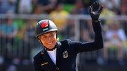 Die deutsche Reiterin Ingrid Klimke © dpa - Bildfunk Foto: Friso Gentsch