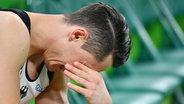 Der deutsche Turner Andreas Toba ist den Tränen nahe. © dpa - Bildfunk Fotograf: Lukas Schule